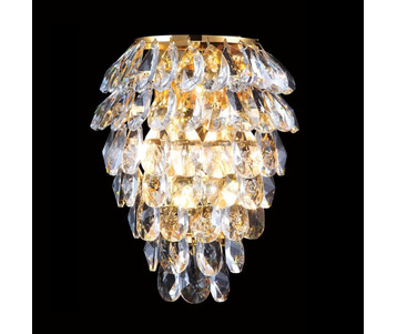 Настенный светильник Crystal Lux Charme AP3 Gold/Transparent