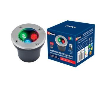 Ландшафтный светодиодный светильник (UL-00006818) Uniel ULU-B10A-3W/RGB IP67 Grey
