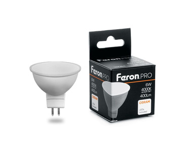 Лампа светодиодная Feron G5.3 6W 4000K Матовая LB-1606 38084