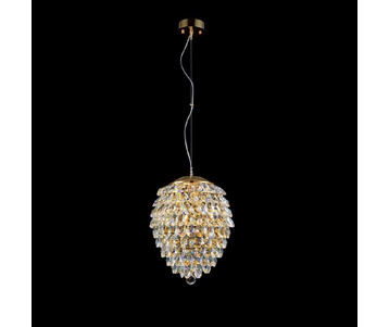 Подвесной светильник Crystal Lux Charme SP4 Gold/Transparent