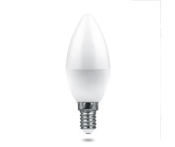 Лампа светодиодная Feron E14 7,5W 2700K Матовая LB-1307 38053