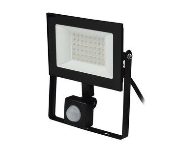 Прожектор светодиодный Uniel 30W ULF-F62-50W/6500K Sensor IP54 200-240В Black UL-00007126