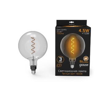 Лампа светодиодная филаментная Gauss E27 4,5W 1800K серая 154802005