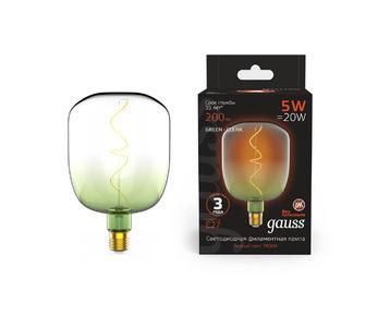 Лампа светодиодная филаментная Gauss E27 5W 1800K зеленая 1009802105