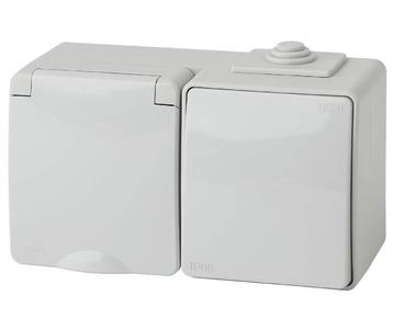 Блок розетка-выключатель ЭРА Эксперт IP65 16A 250V 11-7601-03