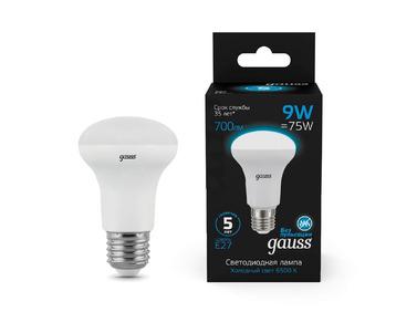 Лампа светодиодная Gauss E14 9W 6500K матовая 106002309